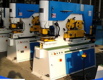 Angle Steel Cutting160T Hydraulic Iron Worker With Nothcing / Cutting Function